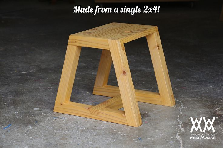 Utility stool made from 2x4