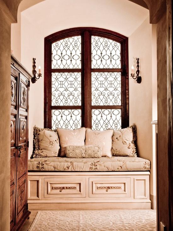 spanish style window seat - San Diego Home Decor
