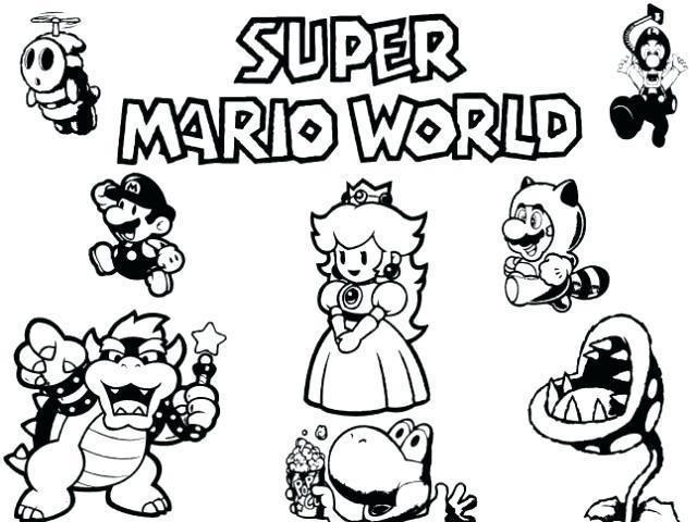 Coloriage Mario Bros U Mario Bros Super Mario World Super Mario