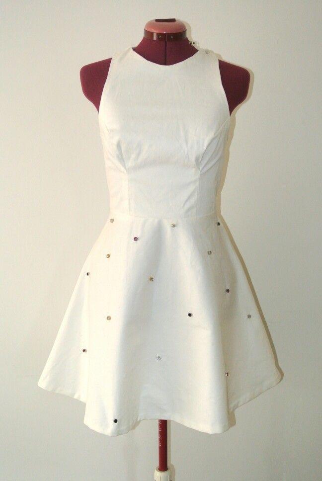 Eva Dress in white by Denise SL Spalk