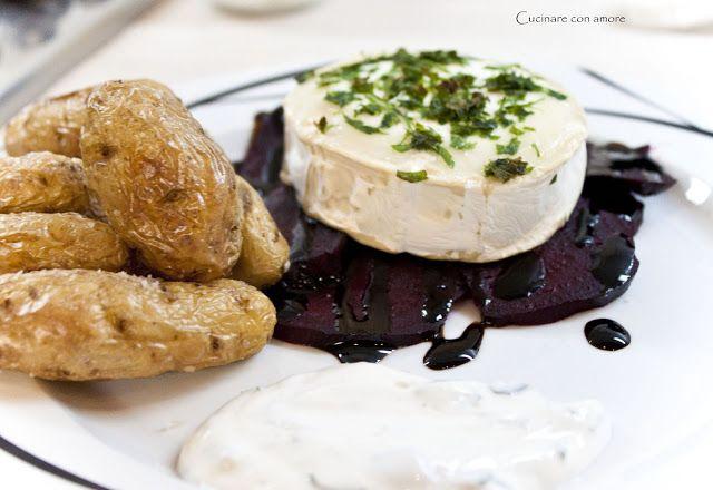 Cucinare con amore: Grilovaný kozí sýr s červenou řepou