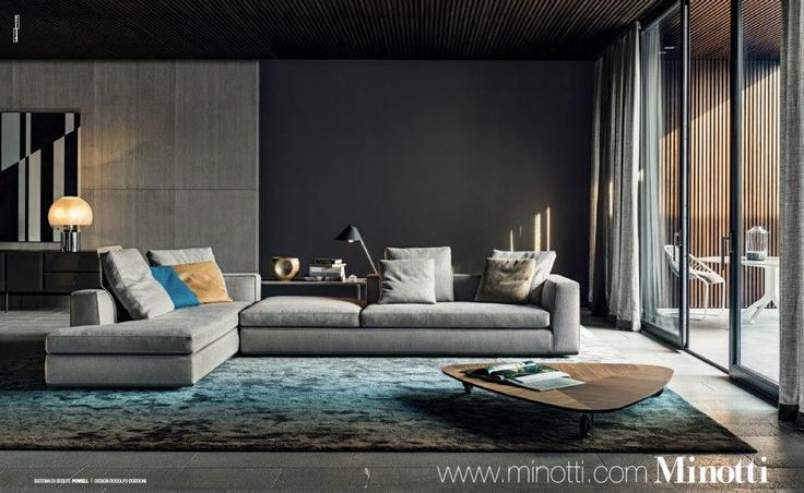 Seccional  Living Room  Sala de estar moderna