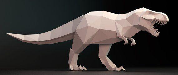 T-Rex Papercrafts | PaperCraftSquare.com | 242x570