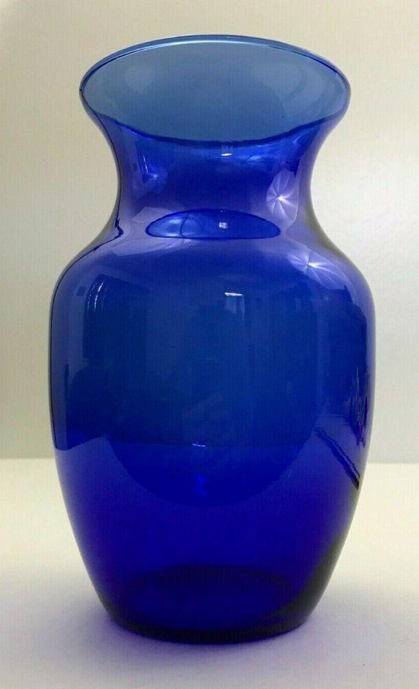 Beautiful 8 Cobalt Blue Glass Vase Simple Classic Design Home