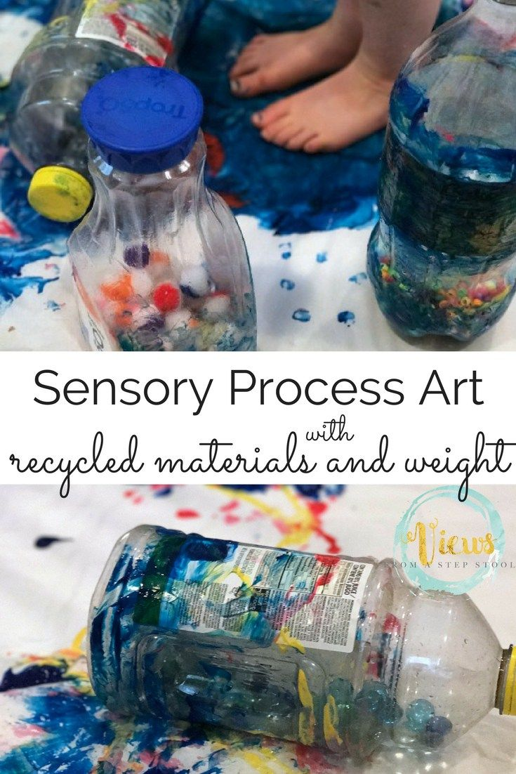 Diese sensorische Prozesskunst-Aktivität nutzt recycelte Materialien und erforscht …   – Views From a Step Stool & The Mommy View