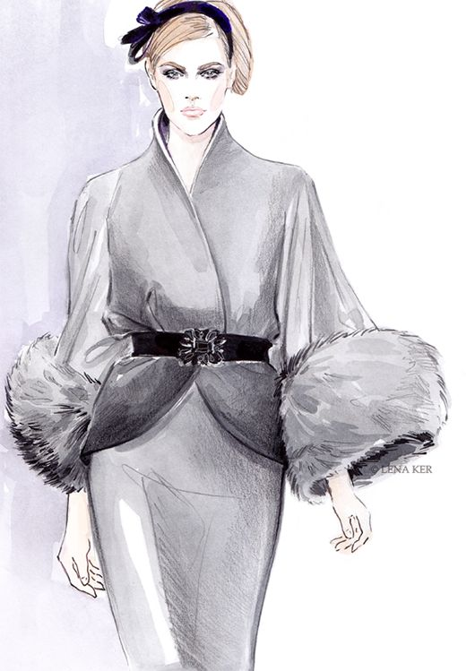 Fashion illustration by Lena Ker.