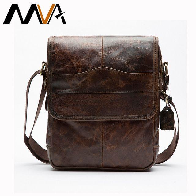 Daily Deals $29.23, Buy MVA Genuine Leather Bag Men Bags Small Casual Flap Shoulder Crossbody Bags Male Shoulder Handbags Messenger Mens Leather Bag Men