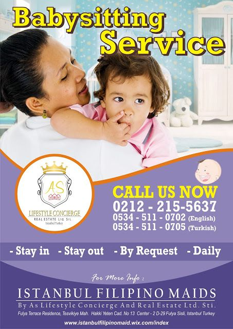 Istanbul Filipino Maids by AS Lifestyle Concierge and Real Estate Ltd. Sti.: Babysitting Service from Istanbul Filipino Maids