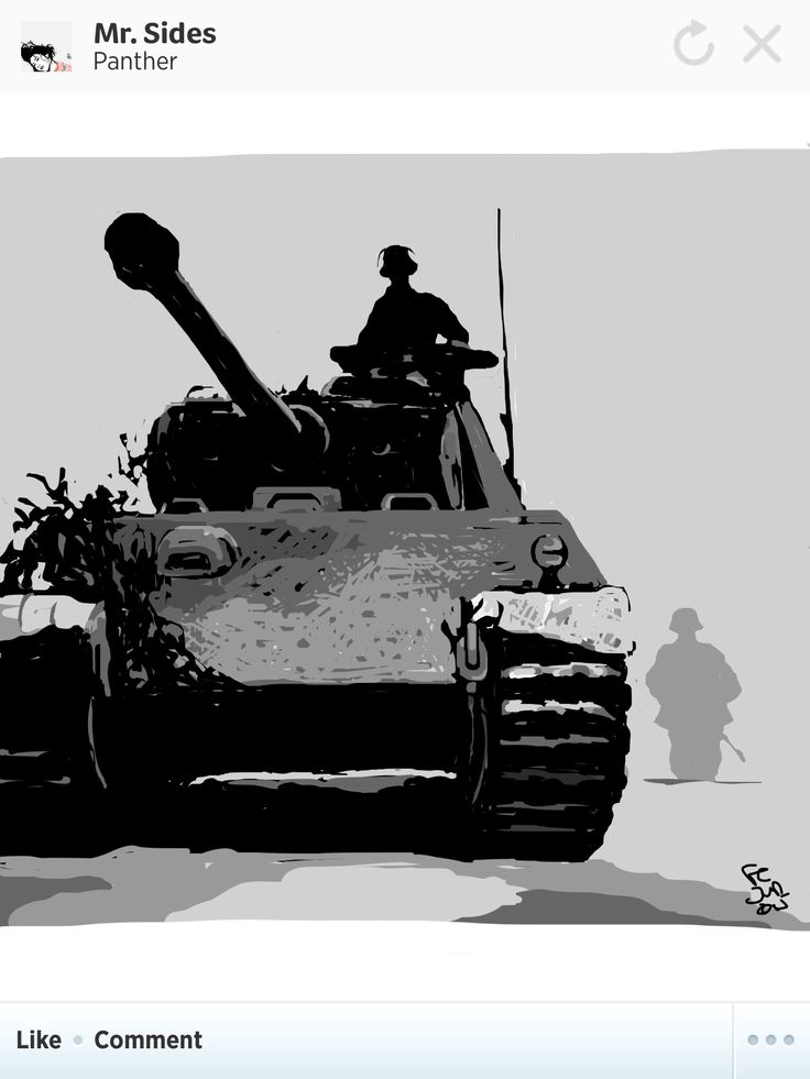 German Panther tank during the Battle of Caen in World War II.