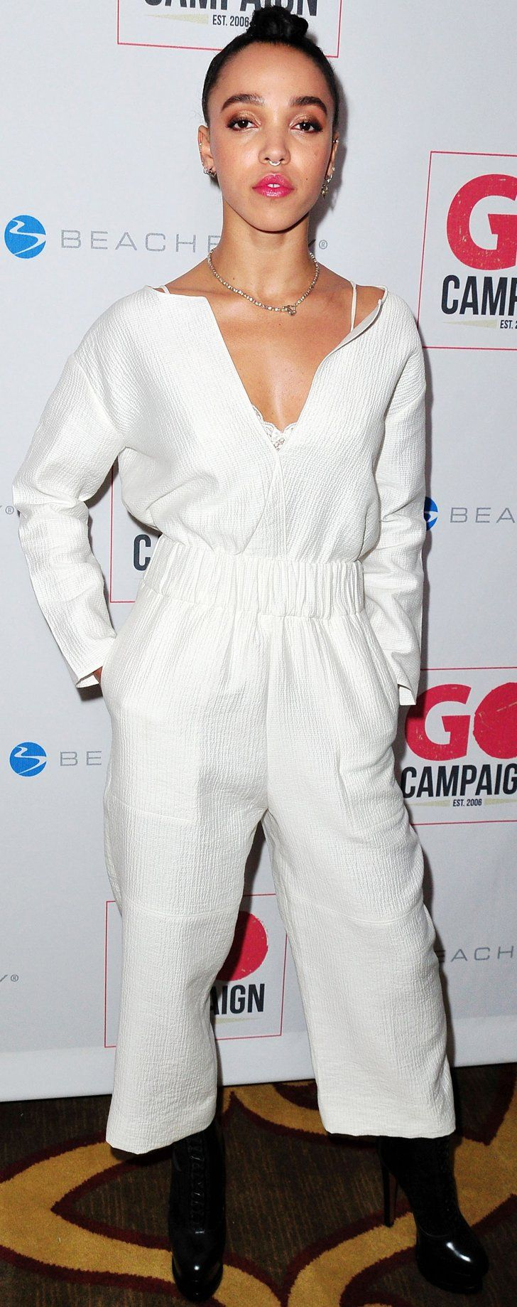 FKA Twigs Wore a White Jumpsuit So Nice, Robert Pattinson Couldn't Stop Staring