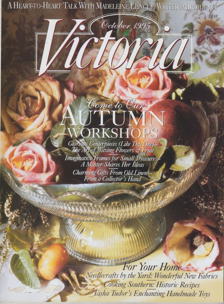 Victoria Magazine October 1995 - Autumn Workshops by clutterbunny on Etsy