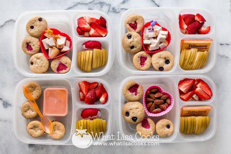 Homemade mini pancake muffins