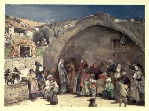 عين السيدة مريم العذراء عليها السلام حوالي منتصف القرن التاسع عشر الناصرة Palestine Art Palestine Palestinian