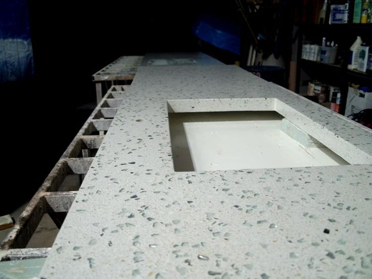 53 best images about concrete countertops on pinterest for Polished concrete kitchen countertops