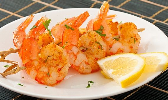 Grilled Honey Shrimp