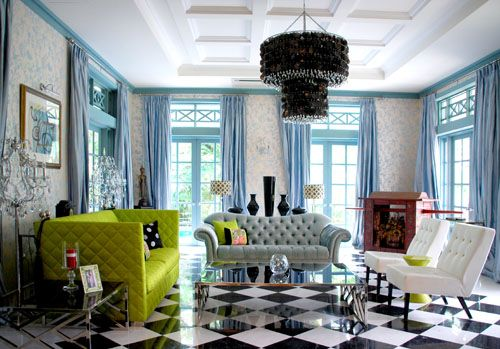 Inside a black and white colonial style bungalow in for Mobel kolonial style