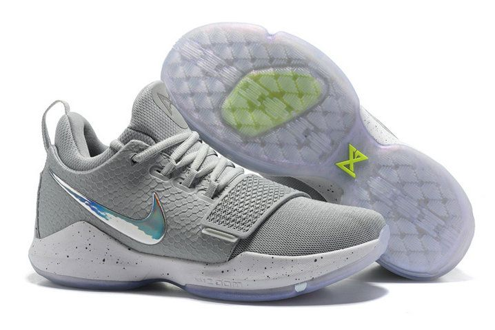 Nike Zoom PG 1 Lastest Nike Zoom PG 1 Grey Colorful Basketball Shoe For Big Discount