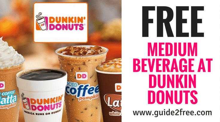 Sign up for Dunkin Donuts Perks and they will send you a coupon for a FREE Medium Dunkin Donuts Beverage  - You will also get another free coffee on your Birthday! via @guide2free