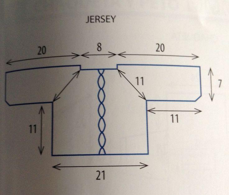 medidas orientativas para un jersey de primera postura
