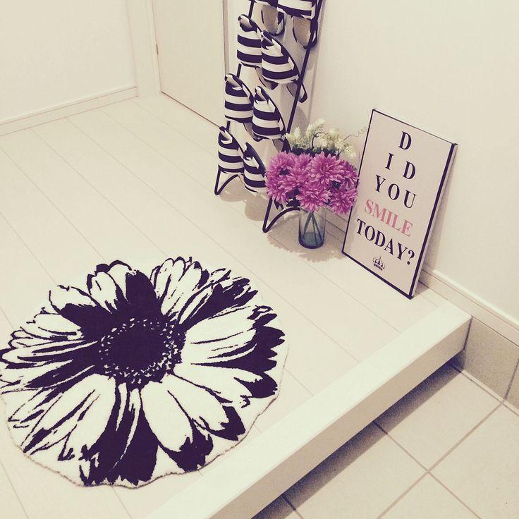 玄関マット/IKEA/しまむら/3Coins/フランフラン/花…などのインテリア実例 - 2014-11-10 20:25:29 | RoomClip(ルームクリップ)