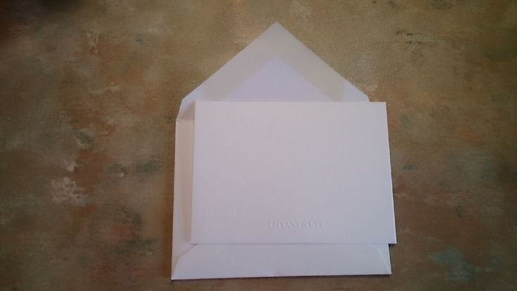 Authentic Tiffany and Co. blank card and envelope
