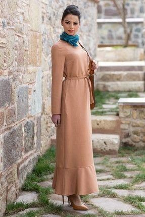 Kuaybe Gider - Kadın Tekstil - Tarçın Matelda Elbise 2027.51 %31 indirimle 179,99TL ile Trendyol da