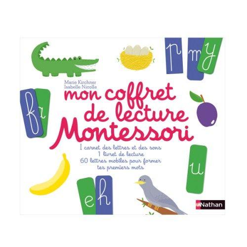 Un coffret pour découvrir les sons d'après la méthode Montessori, et former des  mots. Grâce aux 60 cartes des lettres de l'alphabet, et aux images, l'enfant pourra écrire et lire ses premiers mots.