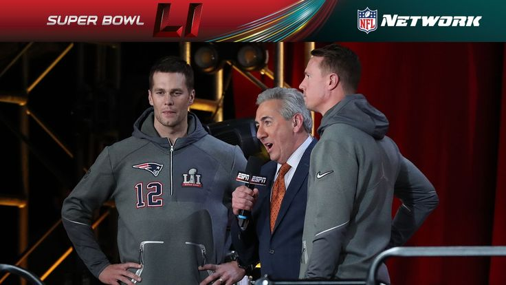 Tom Brady & Matt Ryan Face Off Interview | NFL Network | Super Bowl LI O...