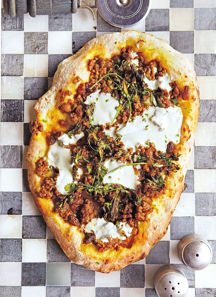 Think pizza crossed with Middle-Eastern spices -- What an amazing and delicious dinner recipe! Will be making this very soon. Can't wait!