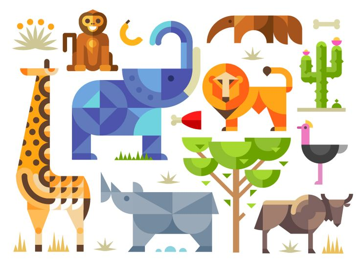 set of icons will be updated! On creativemarket :) https://creativemarket.com/OlegBeresnev/83068-Magic-animal-world-geometric-flat