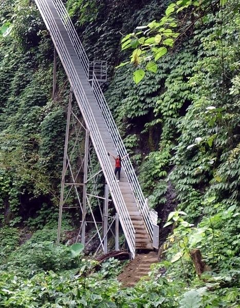 staircase to kuning waterfall