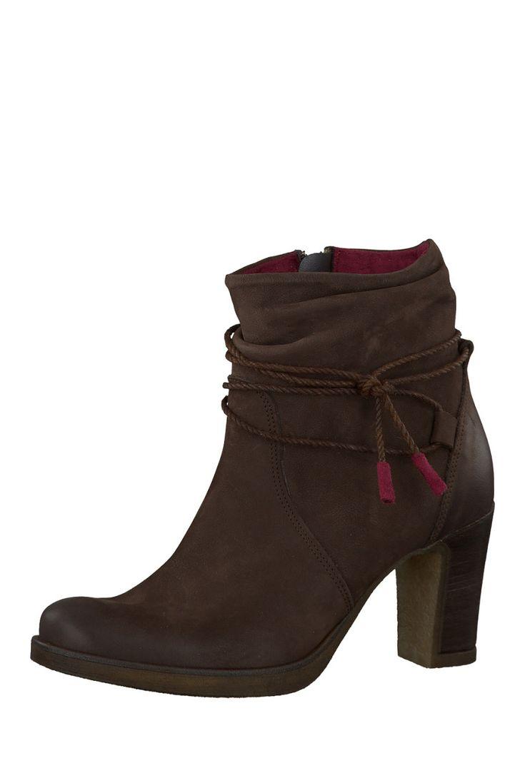 Tamaris Ankle-Boots, Leder, Absatz 8 cm, braun Jetzt bestellen unter: https://mode.ladendirekt.de/damen/schuhe/stiefeletten/ankleboots/?uid=6bec6c56-43ce-5278-bcb8-f3e1b109c9a5&utm_source=pinterest&utm_medium=pin&utm_campaign=boards #stiefeletten #ankleboots #schuhe #bekleidung Bild Quelle: brands4friends.de