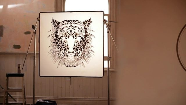 FLOX  TIGER-involved in the craft and creation of stencil work by artist Flox.
