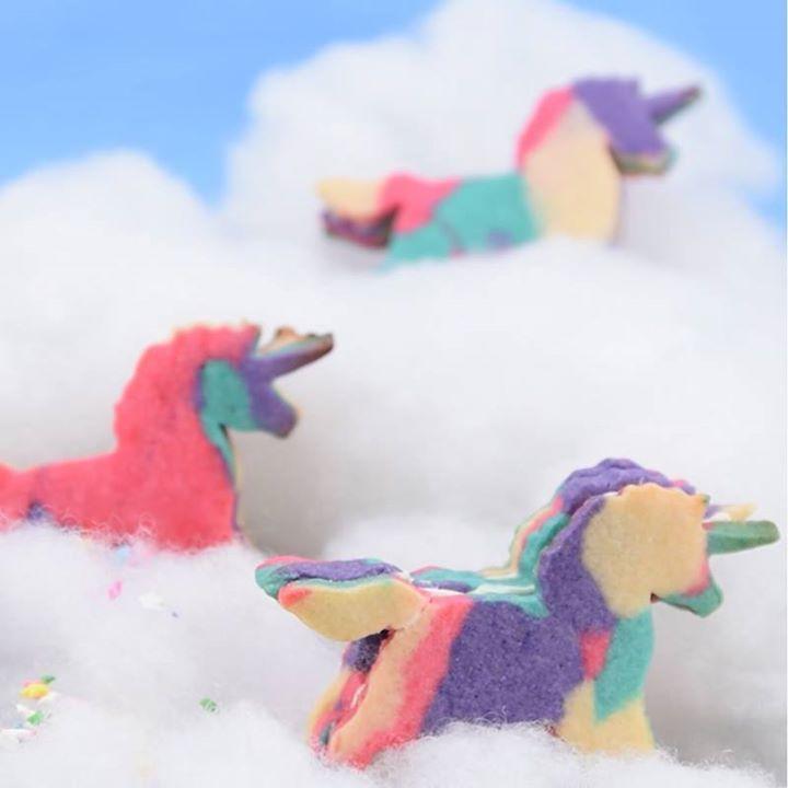 Magic stuffed unicorn cookies