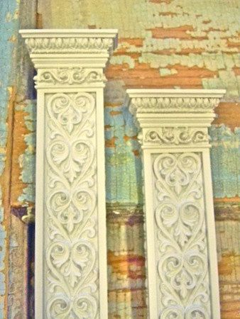 Shabby Chic Victorian Columns Decorative Furniture Appliques - Very Ornate (set of 2). $22.95, via Etsy.