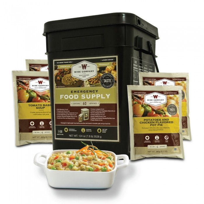 Wise Company Emergency Food Supply: 60 Serving Entrees
