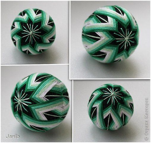 Kézműves termék Temari Temari - Japán gyöngyök tema boldogság fénykép 5