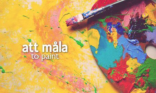 att måla