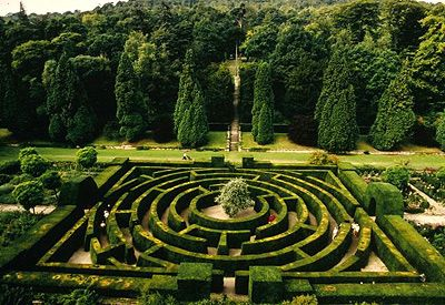 """The Maze at Chatsworth, and , under the link, a review of Adrian Fishers """"The Amazing Book of Mazes"""""""