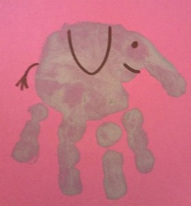 Hand print animals clewis00