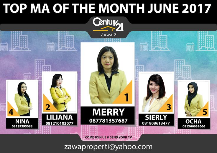 "TOP MA OF THE MONTH CENTURY 21 ZAWA 2 ""JUNE 2017"""