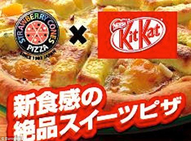 Sweet treat: Japanese pizza chains Napoli no Kama and Strawberry Cones (pictured) sought p... http://dailym.ai/1mpAGNX#i-ac0b0e8b
