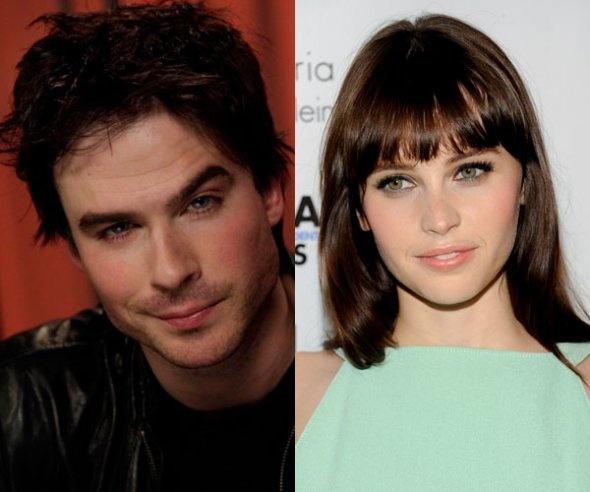 Christian Grey and Ana Steele: Felicity Jones and Ian Somerhalder. Do you agree?