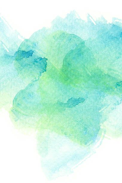 Blue And Green Dining Room: Abstract Watercolor Background