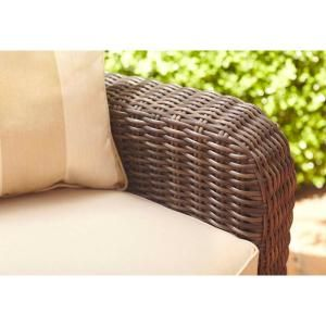 Brown Jordan Northshore Patio Lounge Chair With Harvest Cushions And  Regency Wren Throw Pillow      The Home Depot
