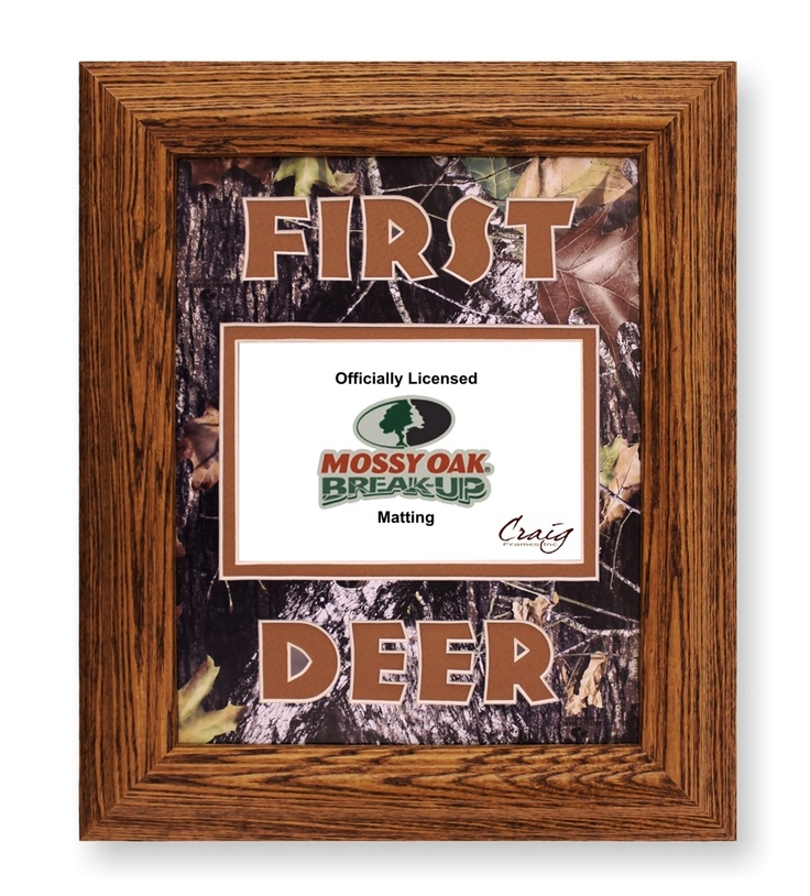 wood frame with first deer mossy oak break up camo mat fits picture craig frames inc