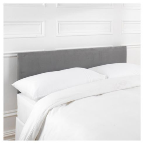 Update the look of your bed with this luxurious headboard. It has been  upholstered in warm charcoal suede-effect fabric that is soft to the touch  and ...