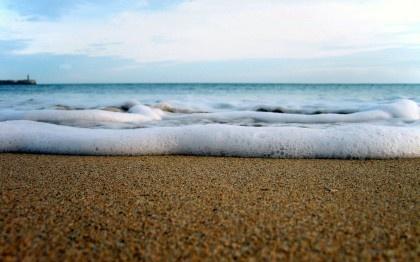Water, Beach, Sand, Foam, Surf, Gorizont, Nature