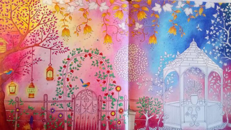 SECRET GARDEN   Johanna Basford - Part 2 - coloring leaves and flowers