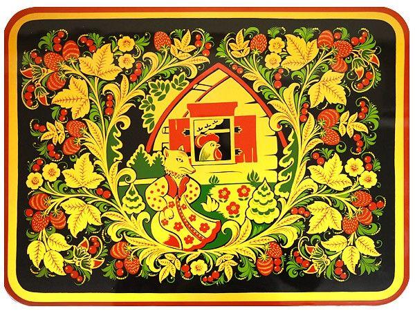 Хохлома картинки роспись дома деревянного